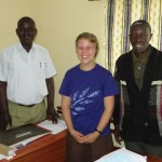 Ida with her supervisor, Pastor Achoro, & Jacob