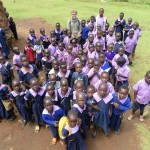 Seth with most of the children in the school.