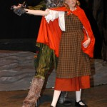 Wolf (Ben Friesen) and Little Red Riding Hood (Olivia Roth)