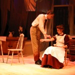 Intern (Mike Honderich) and Mary Mallon (Anna Yoder)