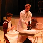 Mary Mallon (Anna Yoder) and Doctor Saltzer (Rebecca Fast)