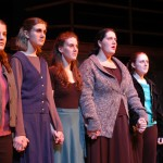 Women (Nicole Miazgowicz, Anna Yoder, Lindsay Nance, Cody Baily, Jessica Iverson) and Amy (Cassie Greer)