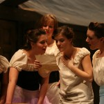 Ella (Nicole Miazgowicz, second from right) with Chorus Girls (Emily Hershberger, Emily Swora, Krista Ehst, Sara Thögersen)