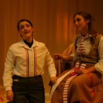 Cherubino (Sara Thögersen) and Susanna (Fjaere Harder)