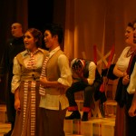 Don Curizo (Luke Gingerich), Susanna (Fjaere Harder), Figaro (Sae Chan Lee), Count Almaviva (Ashe Abebe), Marcelina (Adrienne Nesbitt) and Dr. Bartolo (Brooks Gingerich)