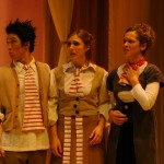 Figaro (Sae Chan Lee), Susanna (Fjaere Harder) and Countess Almaviva (Rachel Nofziger)