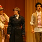 Susanna (Fjaere Harder), Cherubino (Sara Thögersen) and Figaro (Sae Cha Lee)