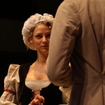 Dorine (Jenna Grubaugh), Orgon (Sam Jones)