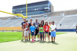 Campers at ND Stadium